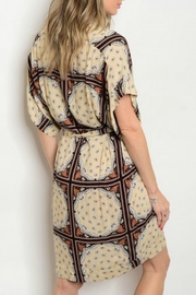 House of Atelier Plungeneck Print Dress - Front full body