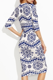 House of Atelier Porcelain Print Dress - Front full body