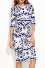 House of Atelier Porcelain Print Dress - Product Mini Image
