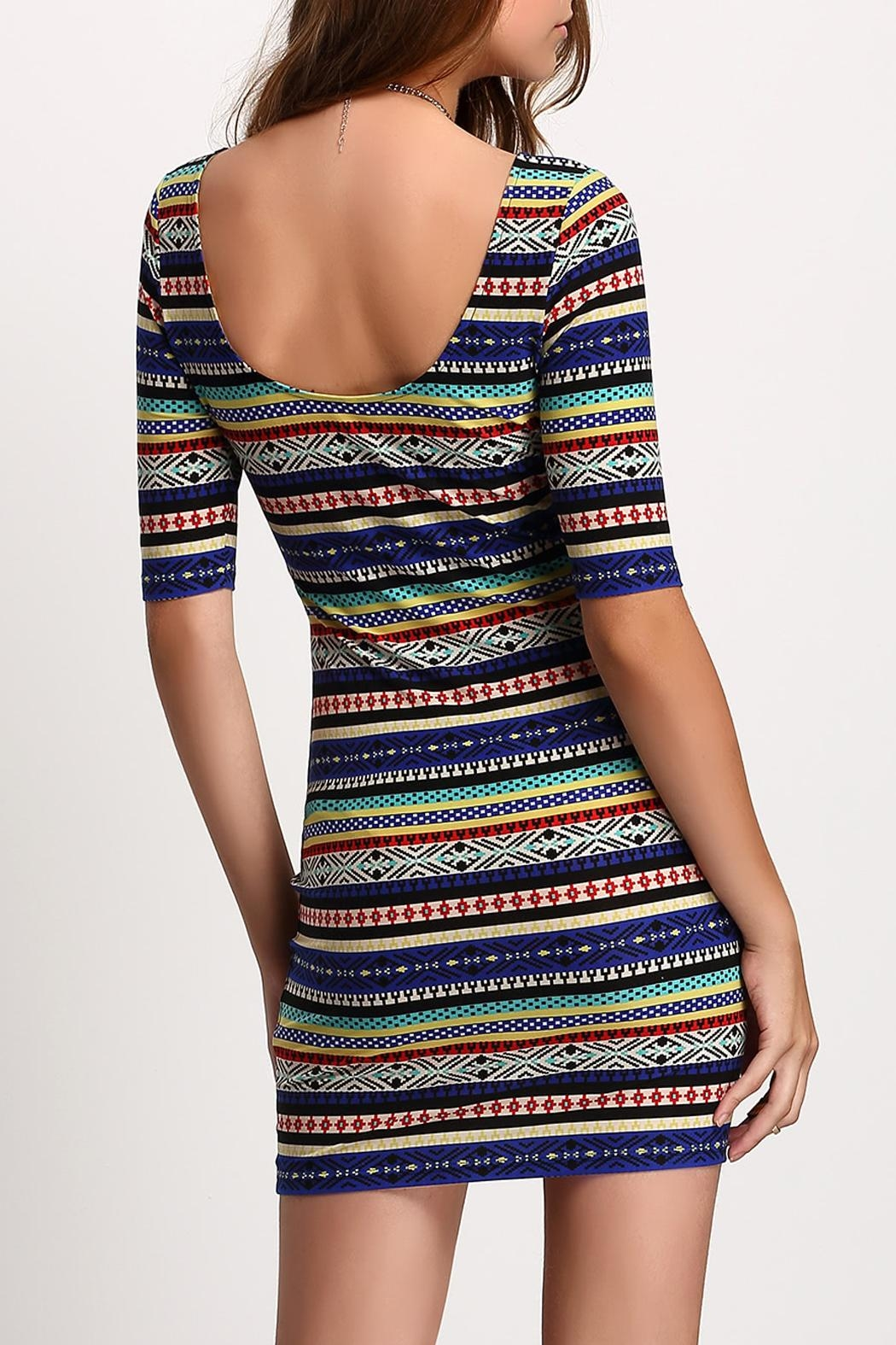 House of Atelier Print Bodycon Dress - Side Cropped Image