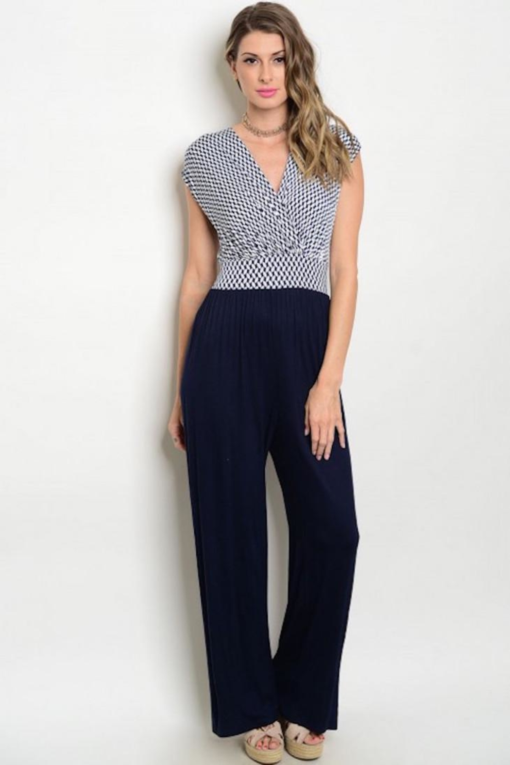 House of Atelier Retro Stetch Jumpsuit - Front Cropped Image
