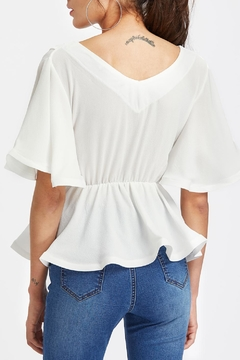 House of Atelier Short Peplum Wrap - Alternate List Image