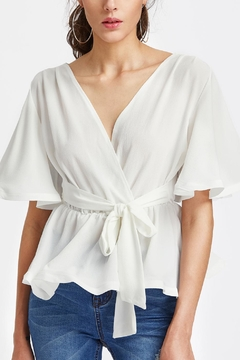 House of Atelier Short Peplum Wrap - Product List Image