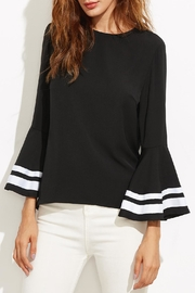 House of Atelier Striped Bell-Sleeve Top - Product Mini Image