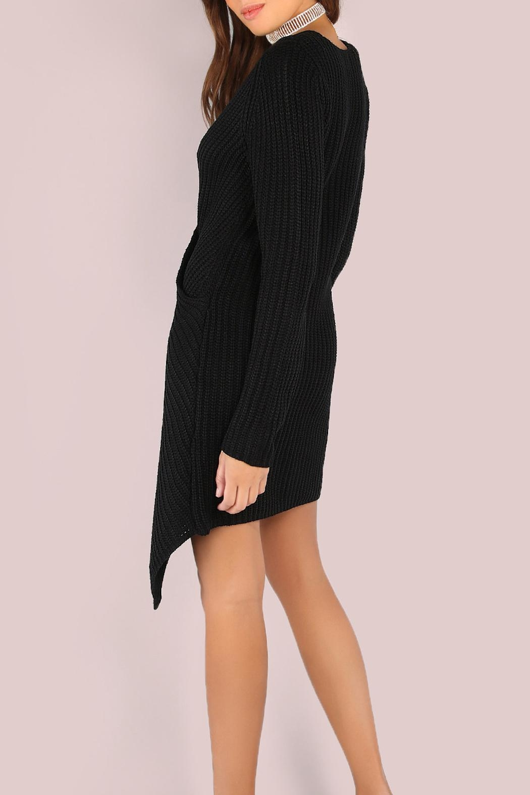 House of Atelier Sweater Wrap Dress - Side Cropped Image