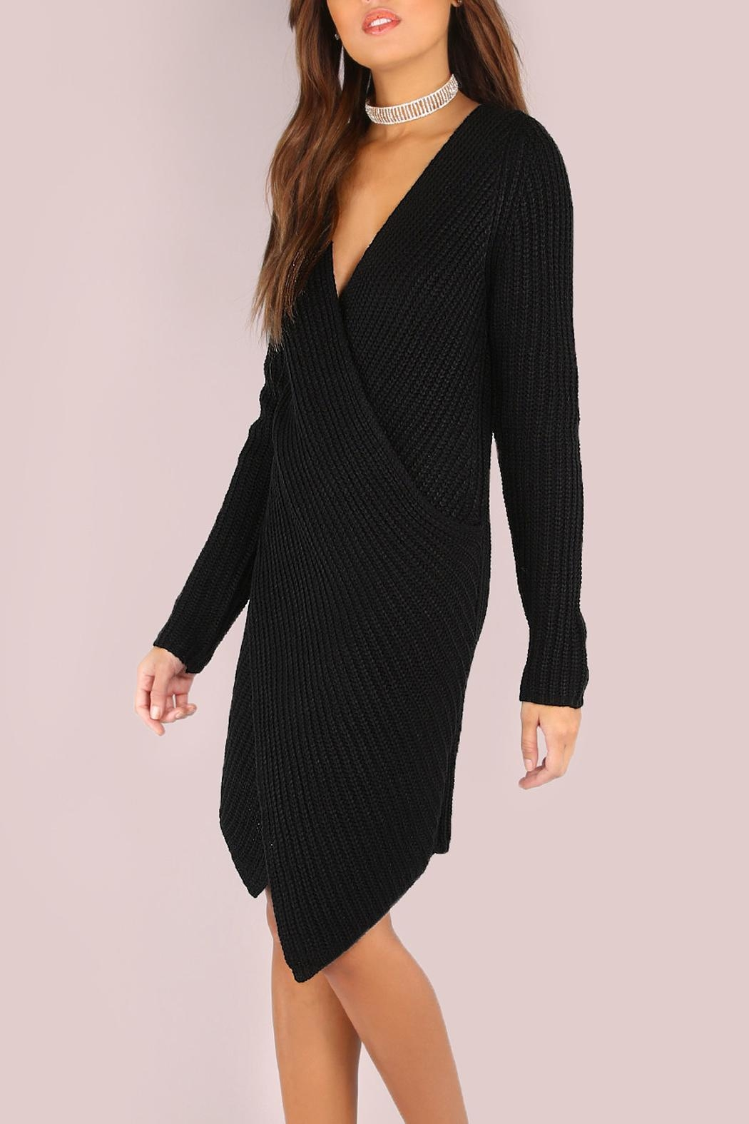 House of Atelier Sweater Wrap Dress - Front Full Image