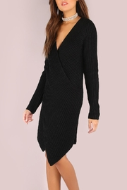House of Atelier Sweater Wrap Dress - Front full body