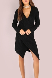 House of Atelier Sweater Wrap Dress - Front cropped
