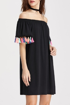 House of Atelier Tassel Sleeve Dress - Alternate List Image