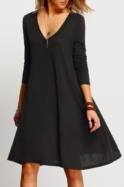 House of Atelier V-Neck Swing Dress - Front cropped