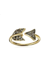 House of Harlow 1960 Arrow Affair Ring - Front cropped