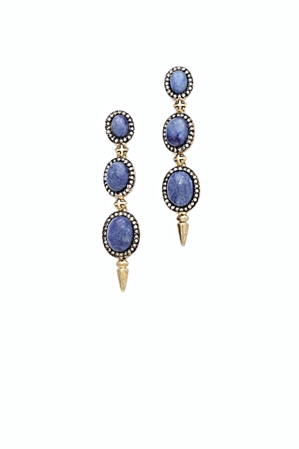 House Of Harlow 1960 Blue Drop Earrings  Front Cropped Image