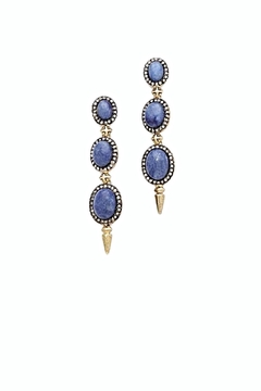 House of Harlow 1960 Blue Drop Earrings - Alternate List Image