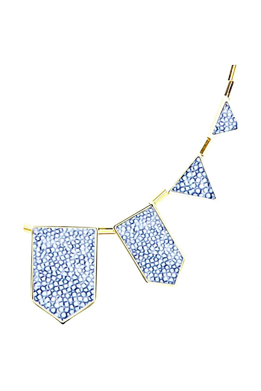 House of Harlow 1960 Leather Station Necklace - Front Full Image