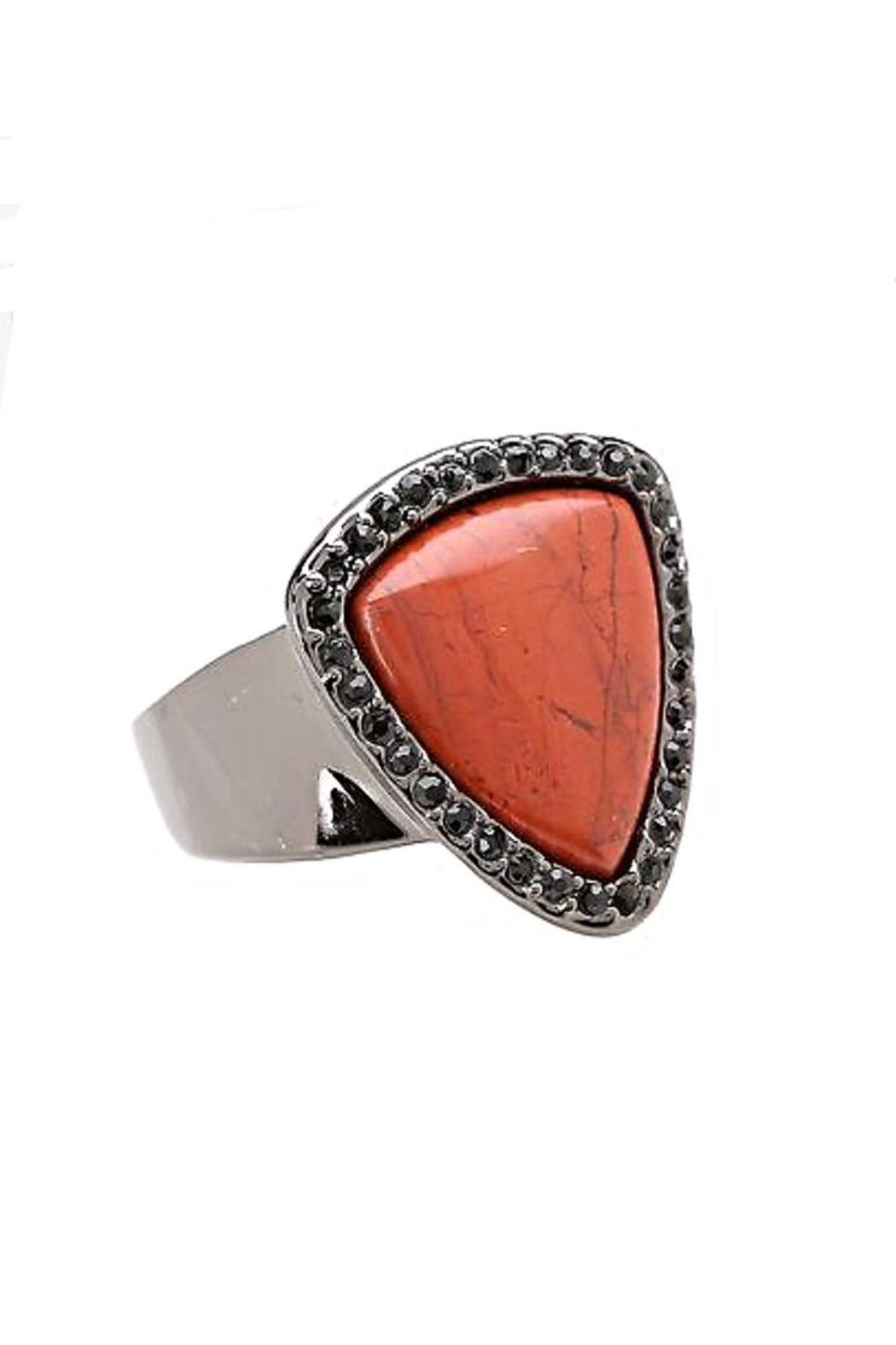 House of Harlow 1960 Red Jasper Ring - Main Image