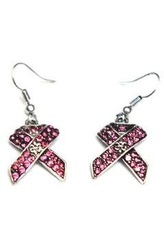House of Tam Pink Ribbon Earring - Product List Image