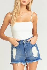 Show Me Your Mumu Houston High-Waisted Shorts - Front cropped