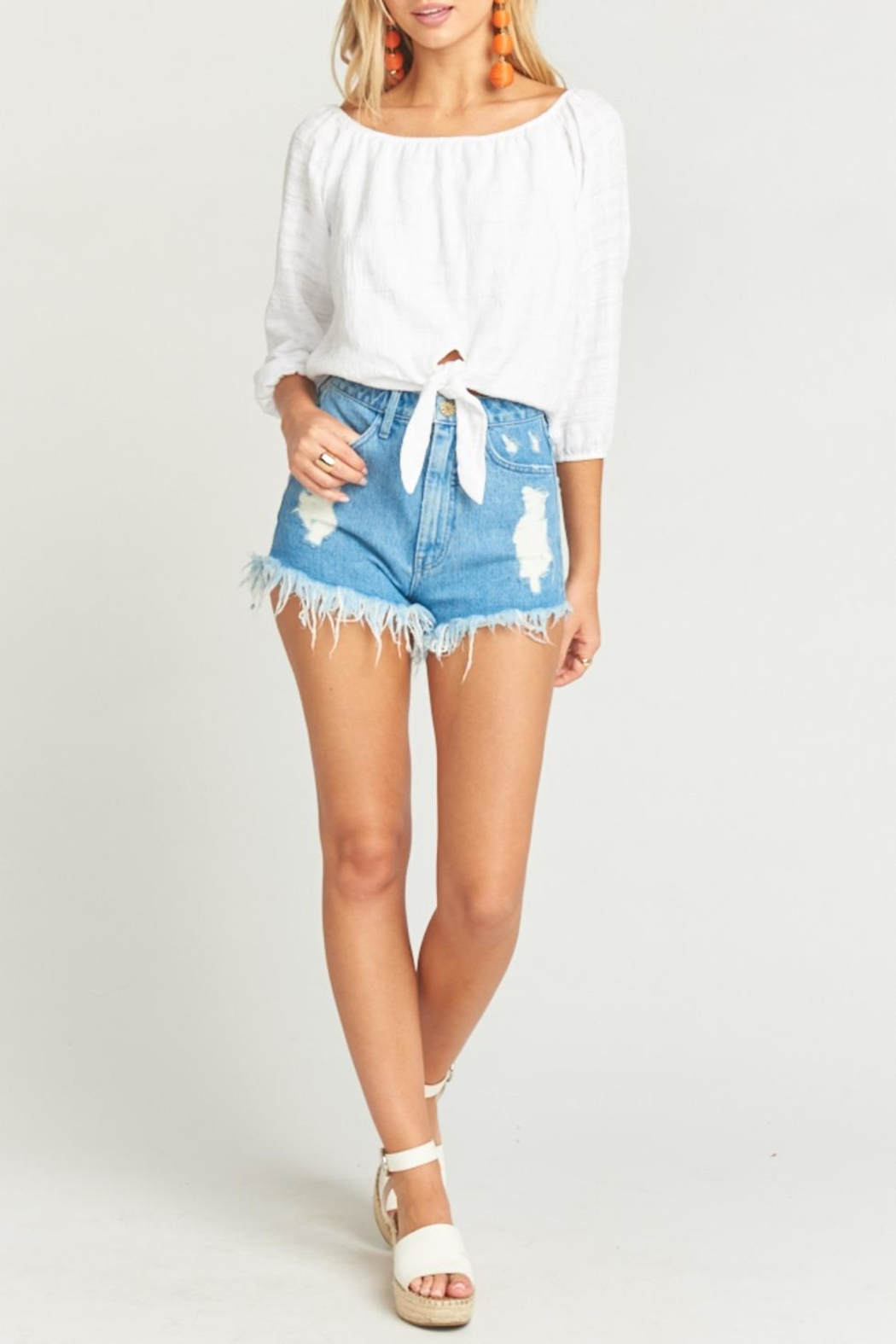Show Me Your Mumu Houston High-Waisted Shorts - Main Image
