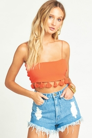 Show Me Your Mumu Houston High Waisted Shorts in Tide - Back cropped