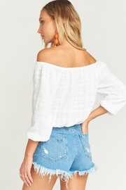 Show Me Your Mumu Houston High Waisted Shorts in Tide - Side cropped