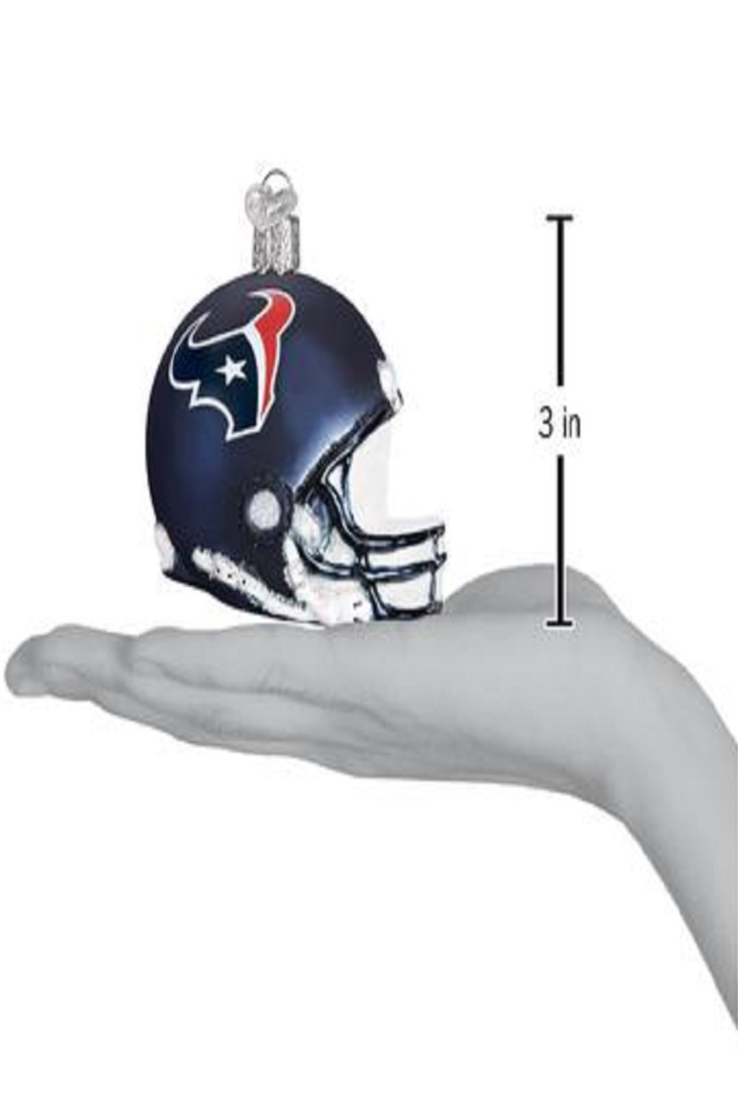 Old World Christmas Houston Texans Helmet Ornament - Side Cropped Image
