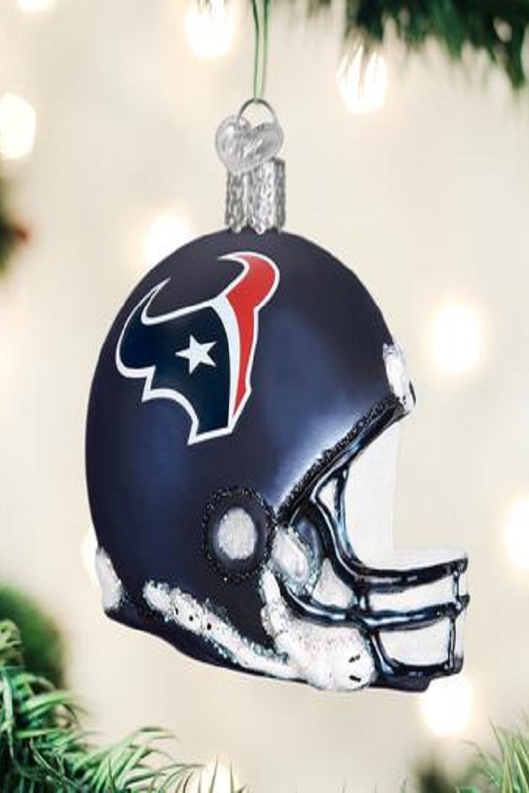 Old World Christmas Houston Texans Helmet Ornament - Front Cropped Image