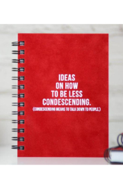 MERIWETHER How to be Less Condescending Journal - Front cropped