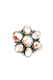 Wild Lilies Jewelry  Howlite Flower Ring - Product Mini Image
