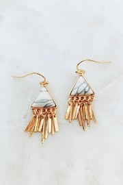 Wild Lilies Jewelry  Howlite Fringe Earrings - Product Mini Image