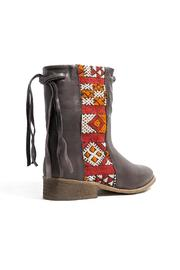 Howsty Brown Leather Boot - Front full body