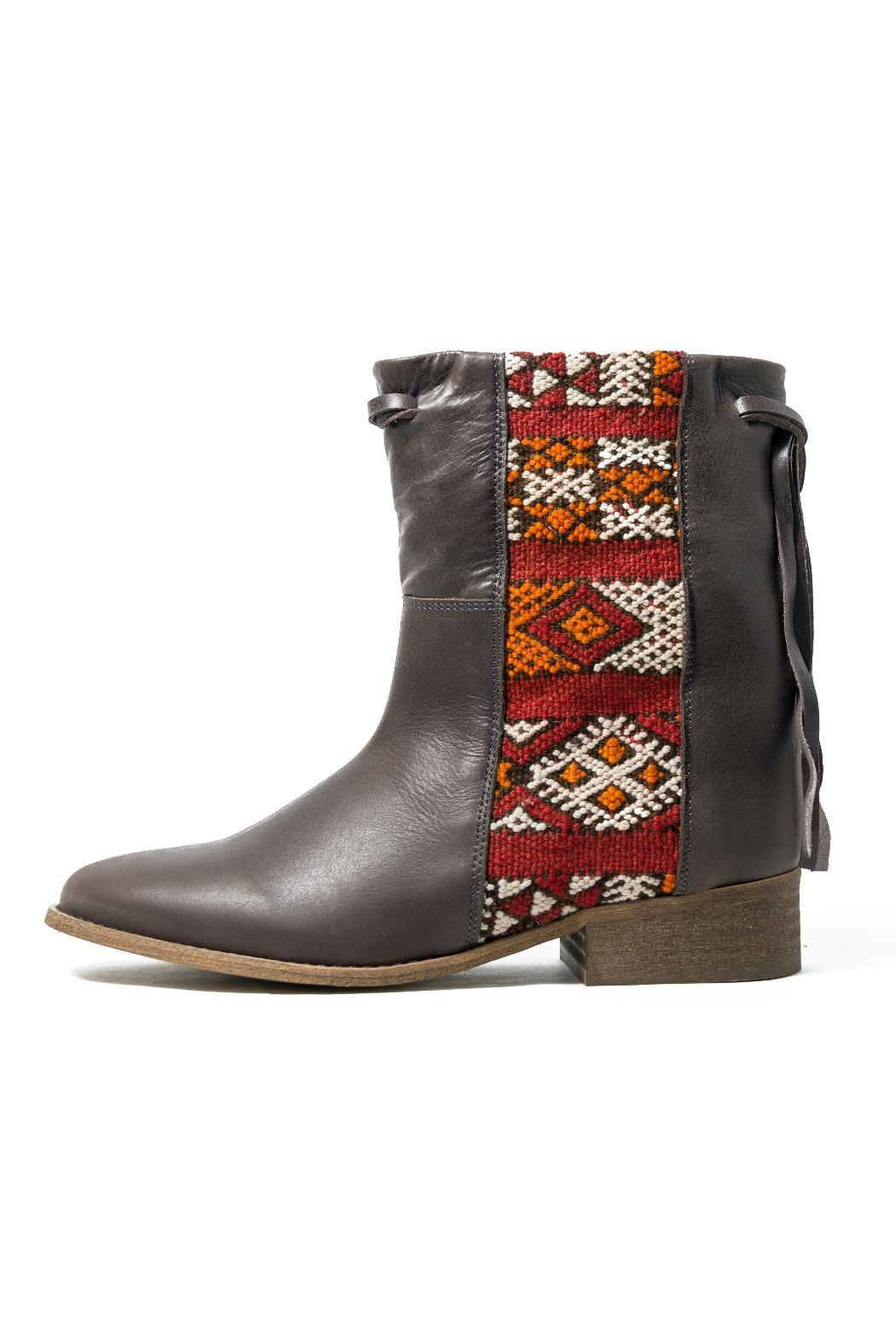 Howsty Brown Leather Boot - Main Image