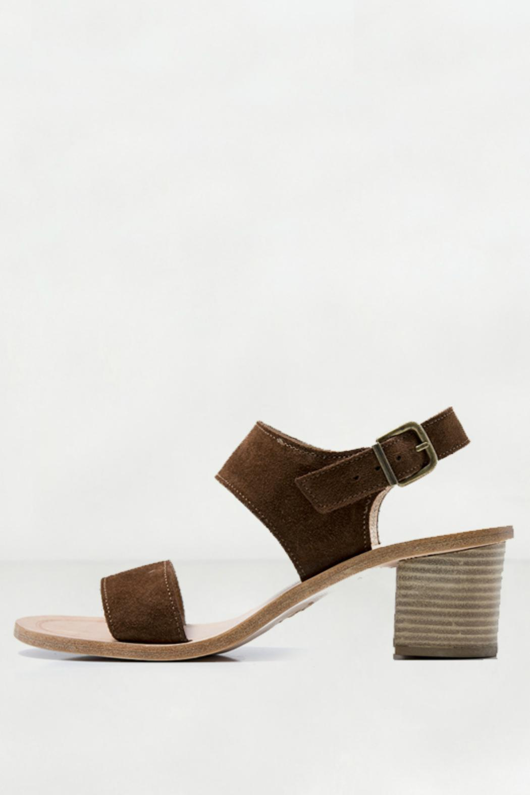 Howsty Suede Heeled Sandal - Main Image