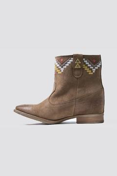 Shoptiques Product: Suede Embroidered Bootie