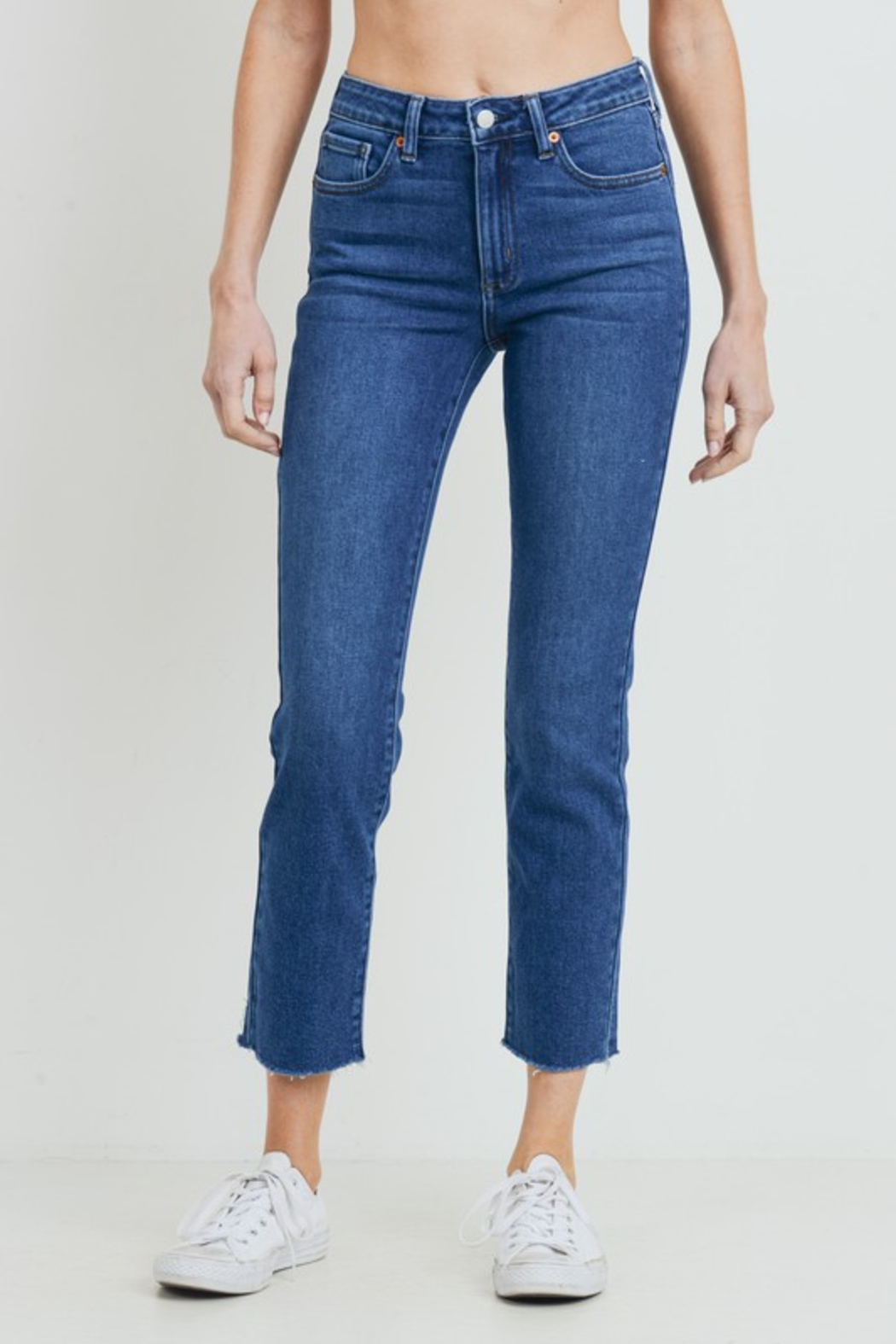 just black HR Relaxed Fray Skinny - Main Image