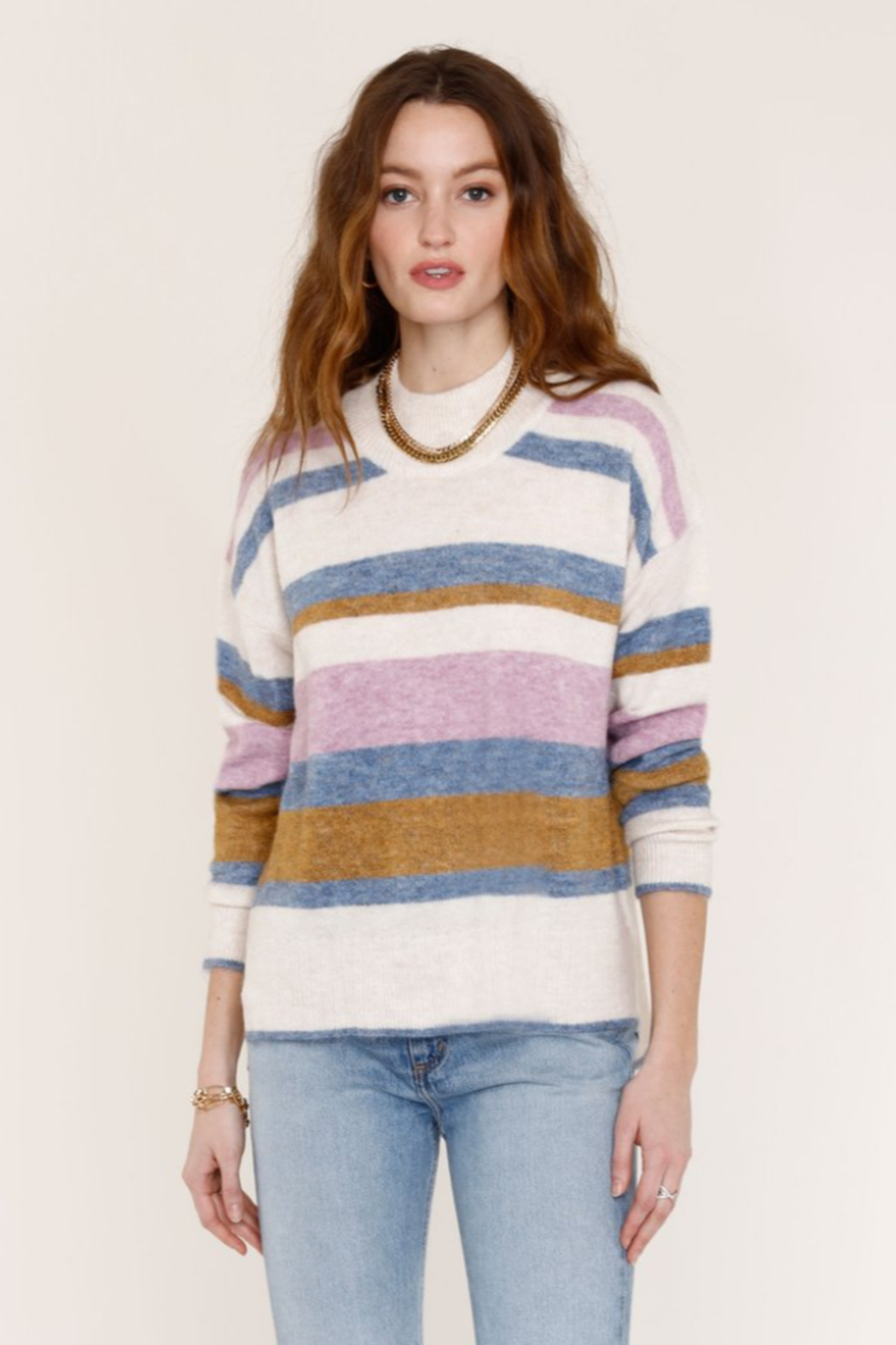 Heartloom HRT - CHARINA STRIPE SWEATER - Front Cropped Image