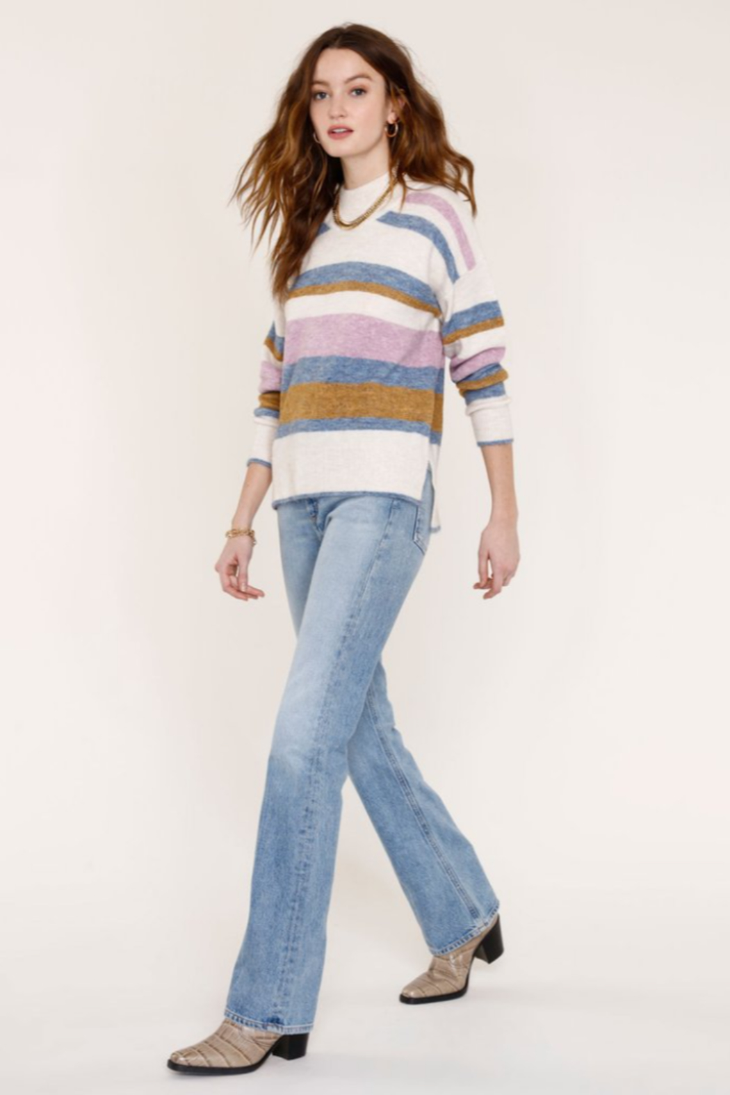 Heartloom HRT - CHARINA STRIPE SWEATER - Front Full Image