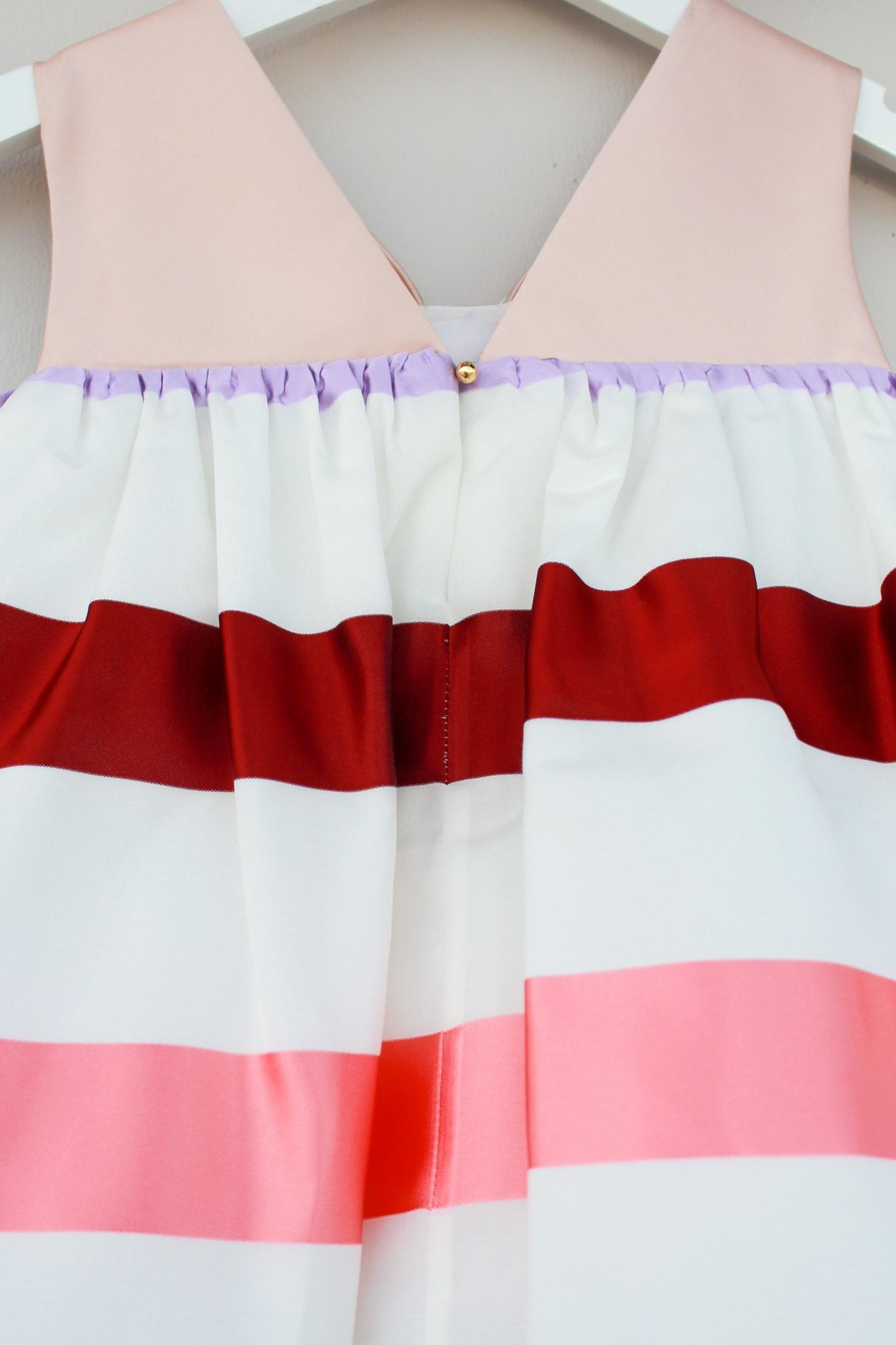 Hucklebones Trapeze Striped Dress - Side Cropped Image