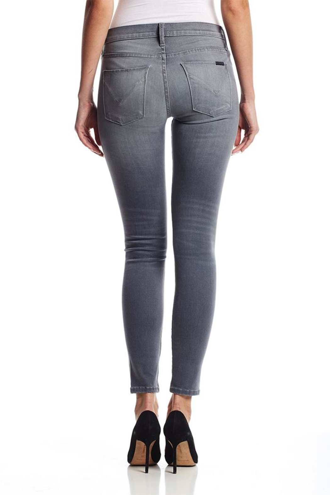 Hudson Nico Grey Jeans - Side Cropped Image