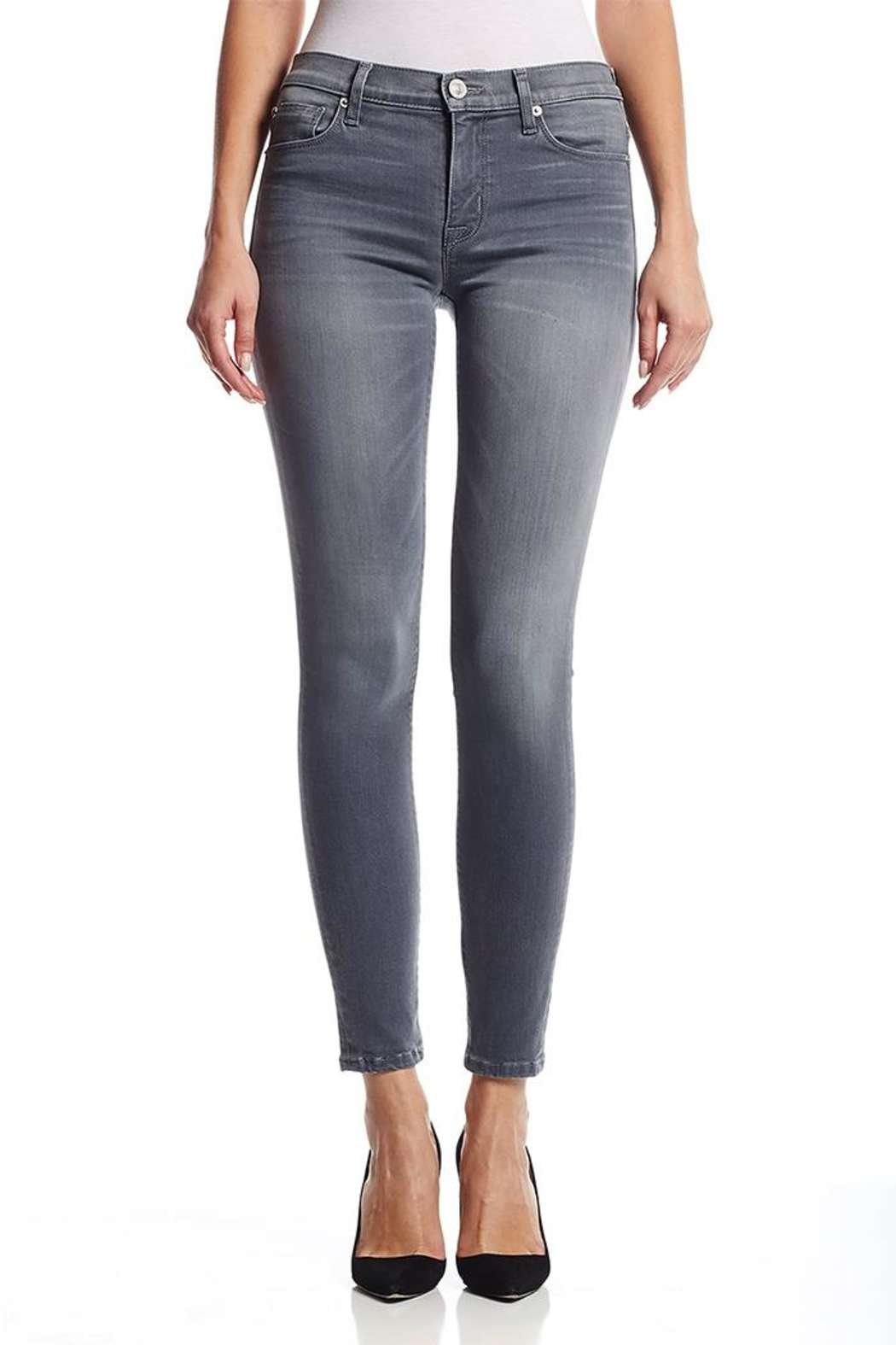 Hudson Nico Grey Jeans - Front Cropped Image