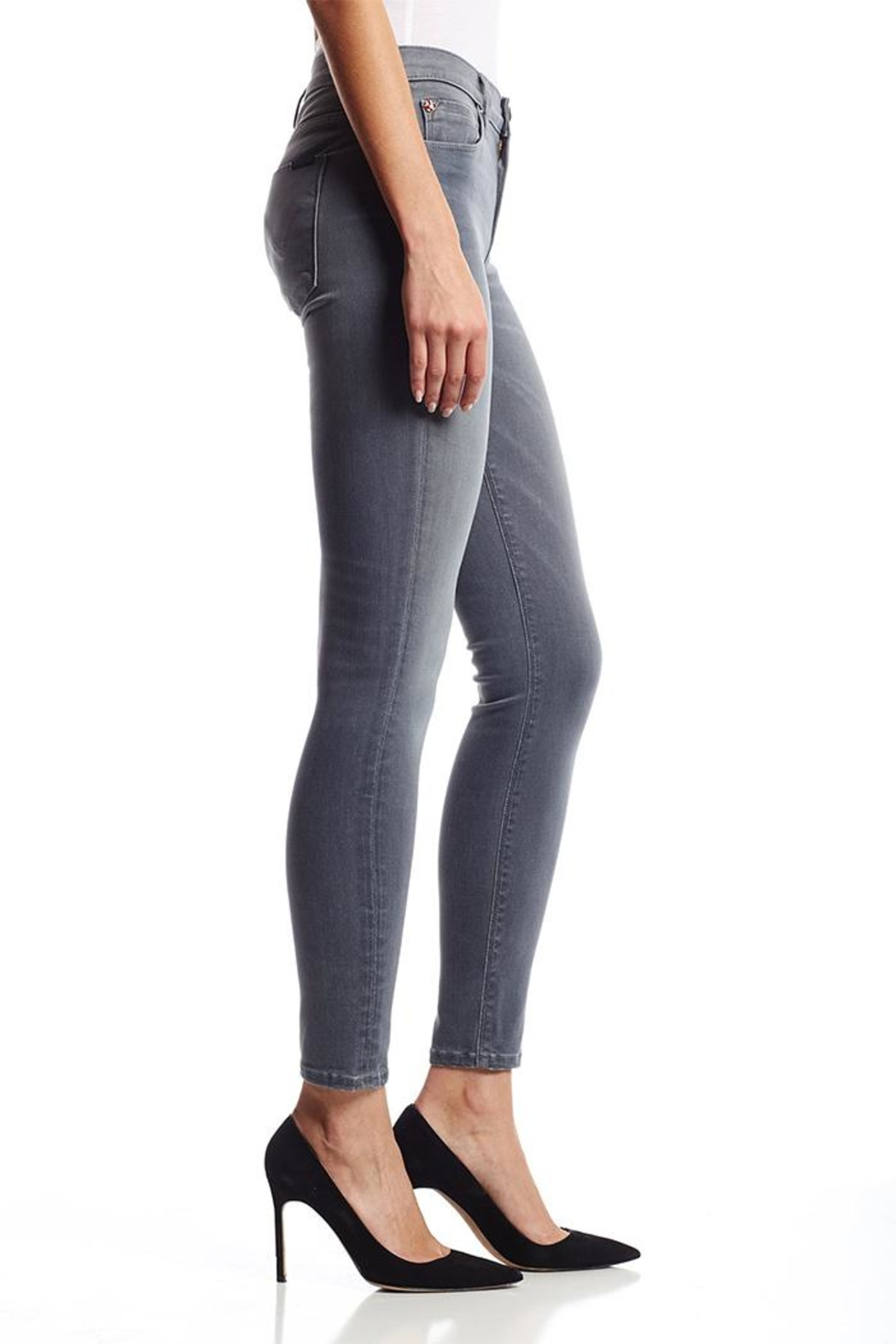 Hudson Nico Grey Jeans - Front Full Image
