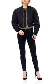 Hudson Rouge Cropped Bomber - Product Mini Image
