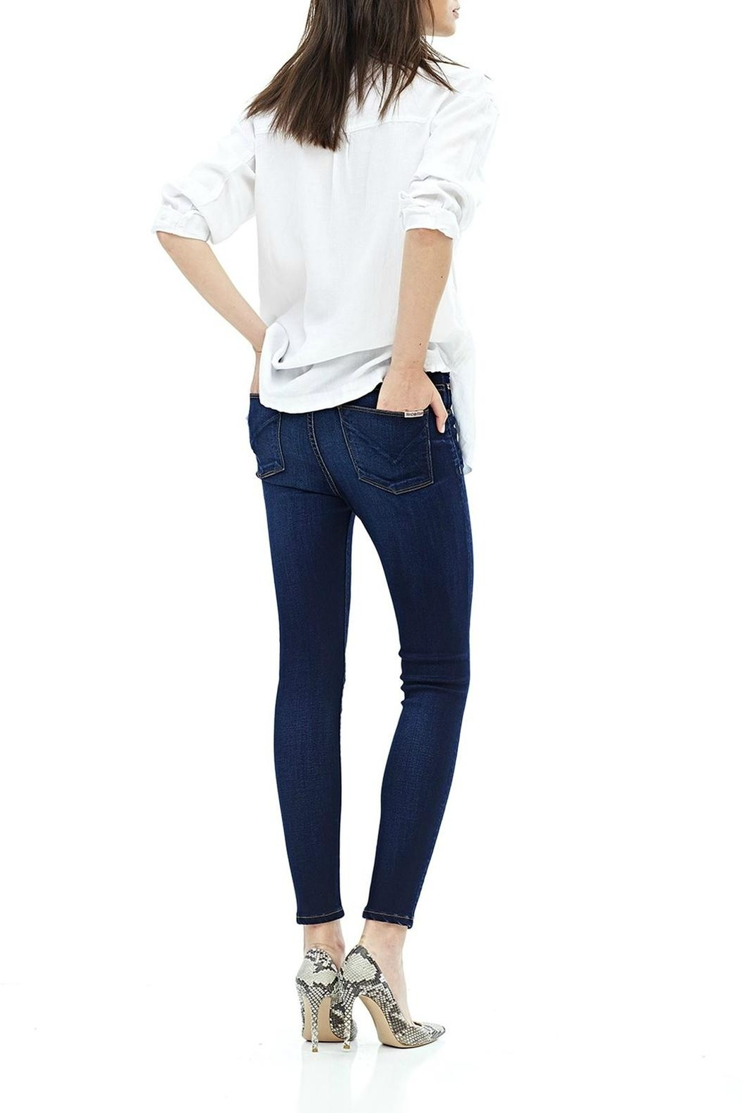 Hudson Jeans Barbara Ankle Skinny-Recruit - Side Cropped Image