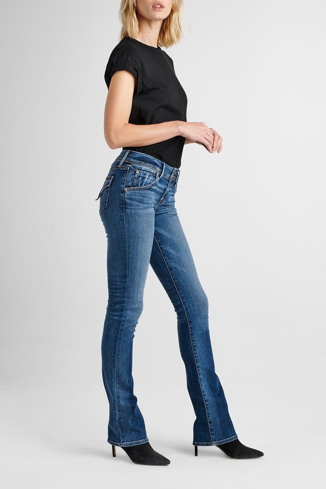 Hudson Jeans Beth Baby-Bootcut Impala - Side Cropped Image