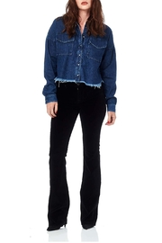 Hudson Jeans Black Velvet Midrise-Bootcut - Front cropped