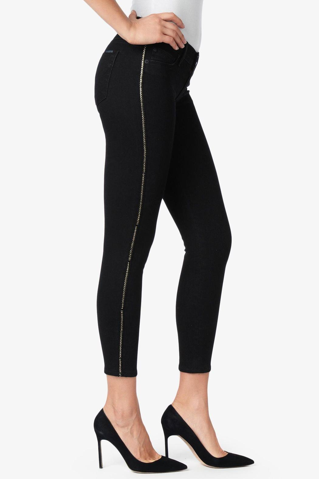 Hudson Jeans Chained Black Crop - Side Cropped Image