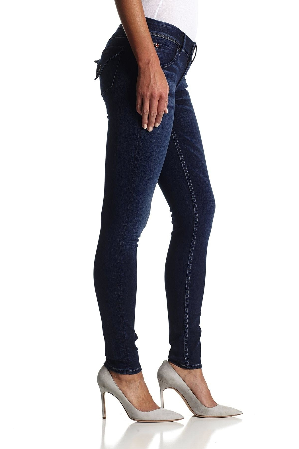 Hudson Jeans Collin Skinny Jeans - Front Full Image