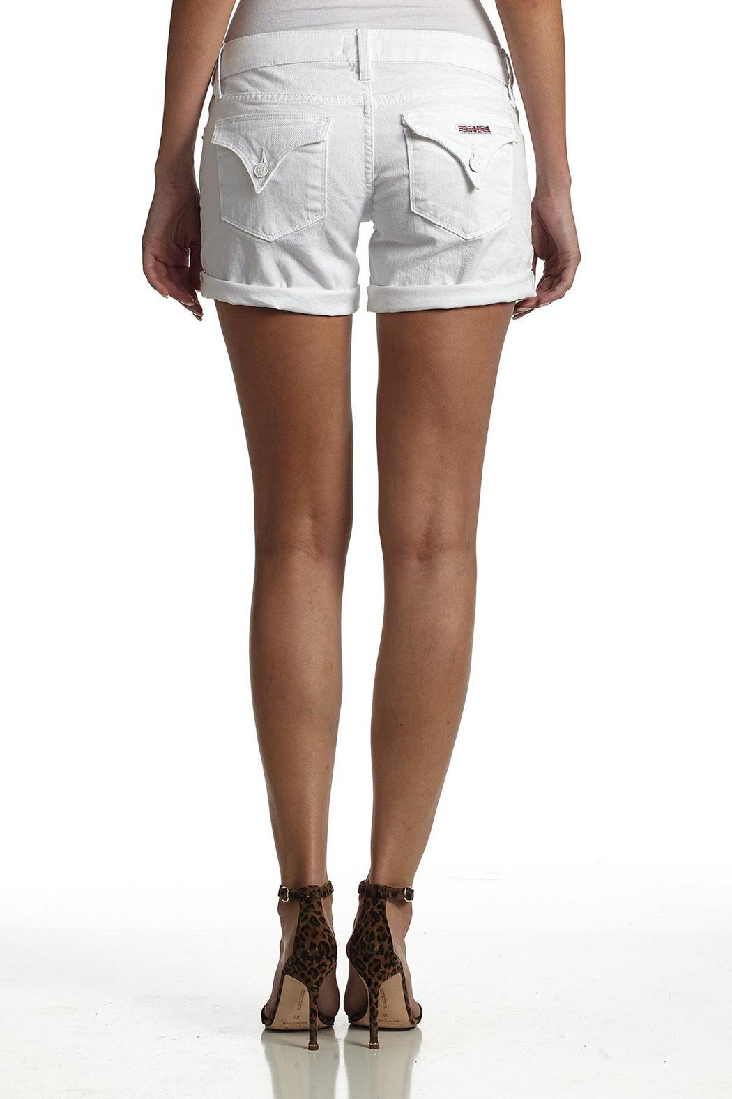 Hudson Jeans White Backflap-Short - Front Cropped Image