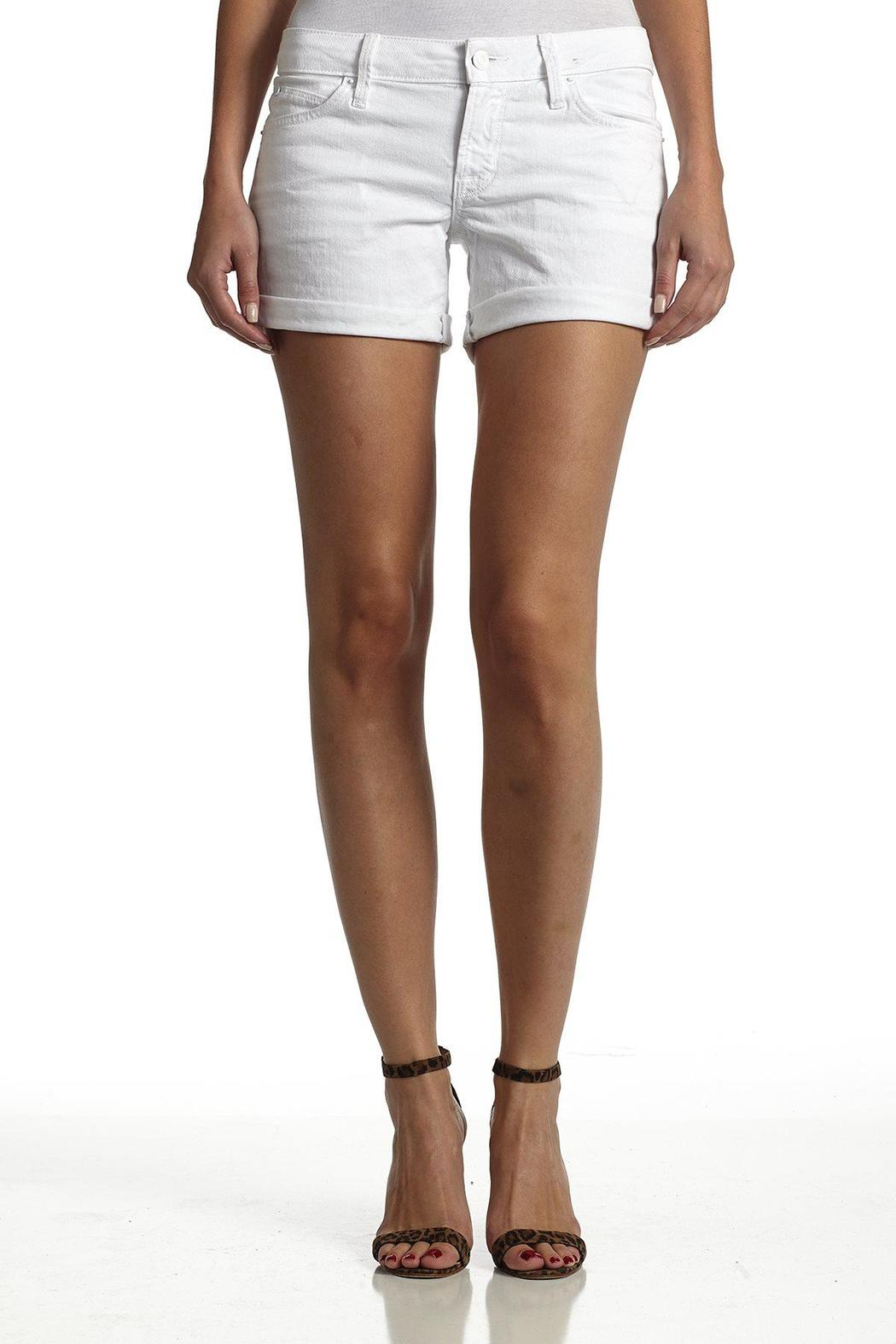 Hudson Jeans White Backflap-Short - Side Cropped Image