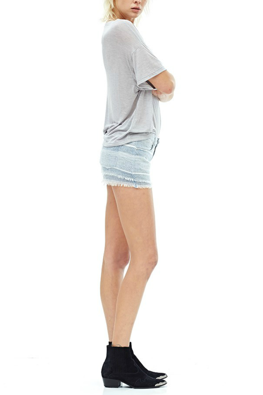 Hudson Jeans Midori Linen Short - Side Cropped Image