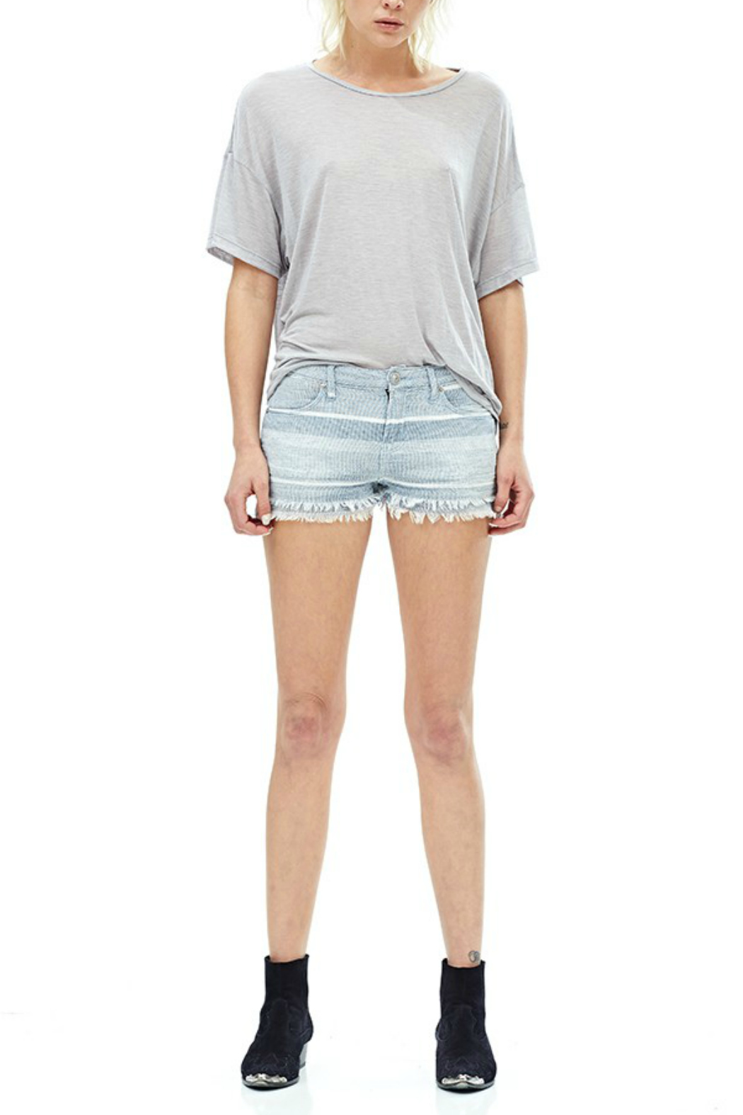 Hudson Jeans Midori Linen Short - Front Cropped Image